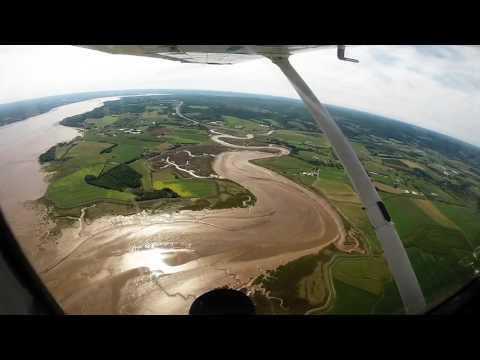 Flight around Minas Basin, Nova Scotia (final)