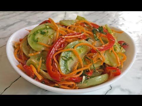 Как приготовить зеленые помидоры по корейски