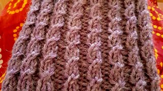 Faux (or mock) cable knit stitch: a Knittycat's Knits tutorial