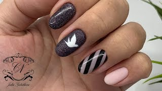 Порхающий дизайн ногтей. Дизайн ногтей на клиенте.