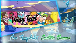 Free Templates Cartoon Banner Template Youtube