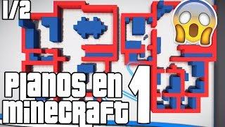 Haciendo casas con planos 1 1/2 Minecraft YouTube