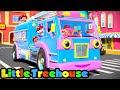 Roda di Truk Pemadam Kebakaran | Kartun untuk anak | Little Treehouse Indonesia | Bayi sajak