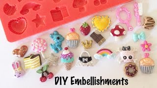 How To Make DIY Embellishments for Crafts, Scrapbooking, Decoden & More