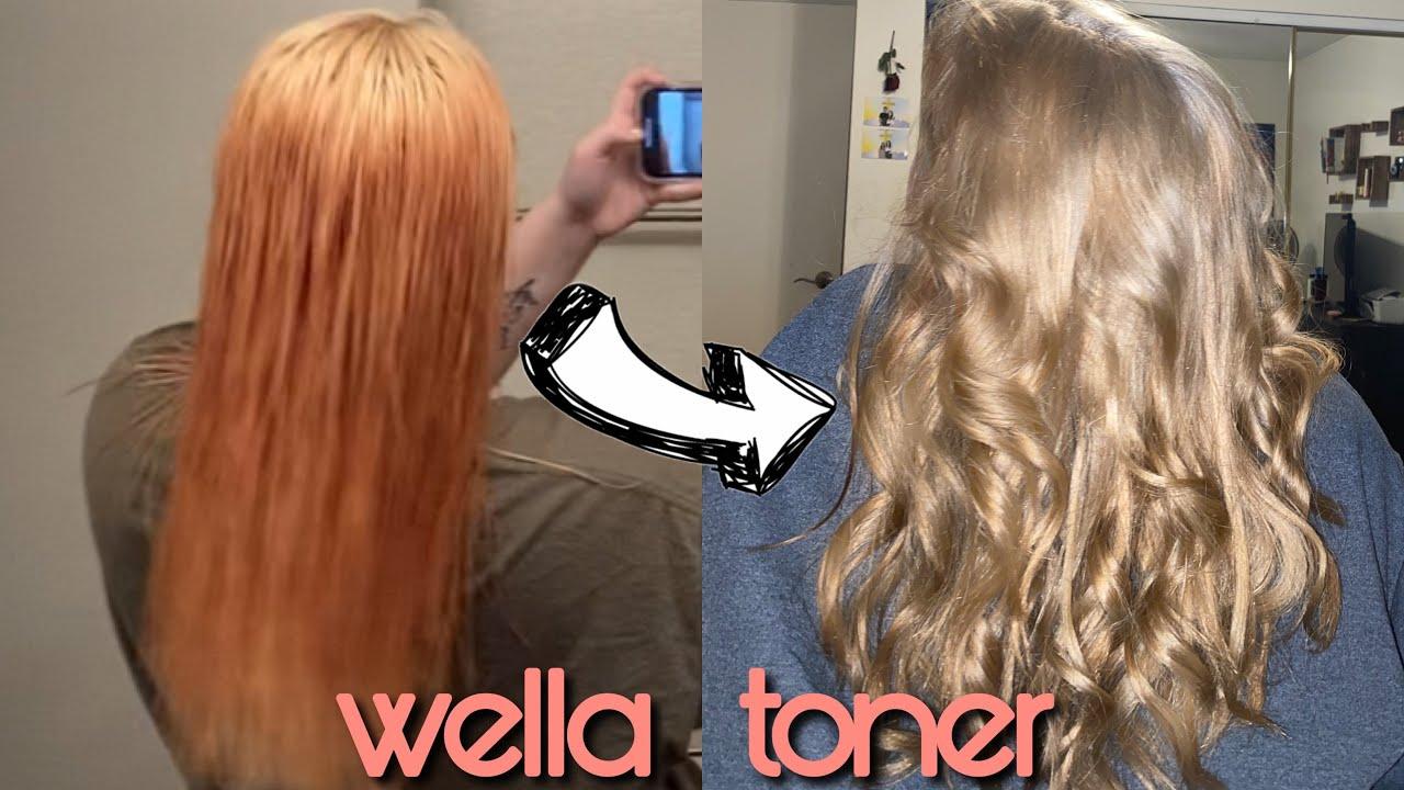 Toning Orange Hair With Wella T14 050 Sara Lynn Youtube