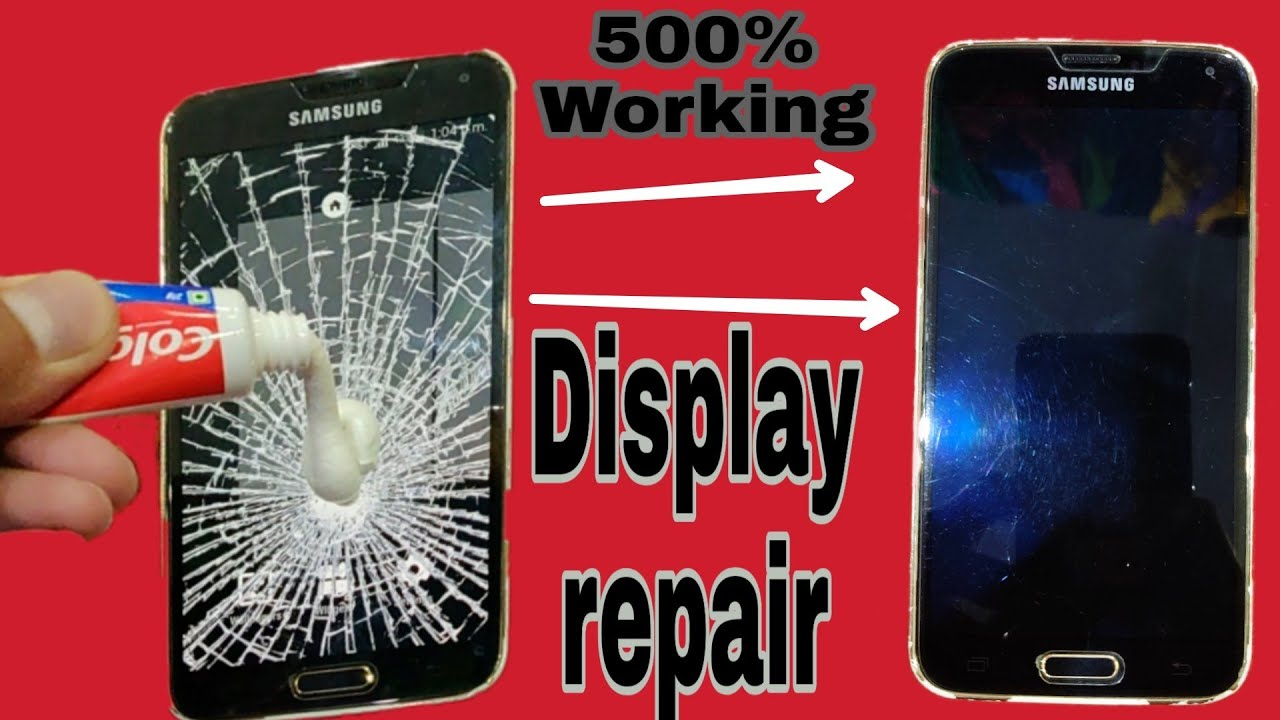 how to fix cracked phone screen at home
