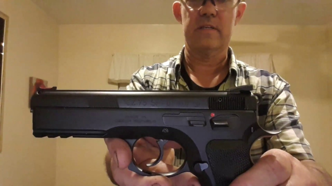 CZ 75 SP-01 Reload in 1 5 Seconds with Cover Garment