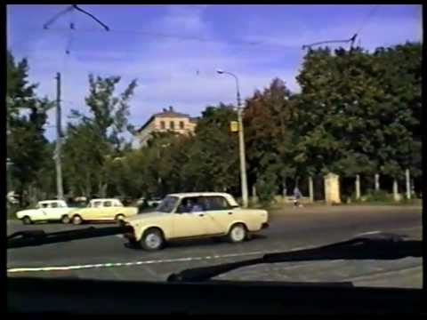 Driving in Moscow, 1994. Post-Soviet Russia | По Москве на М