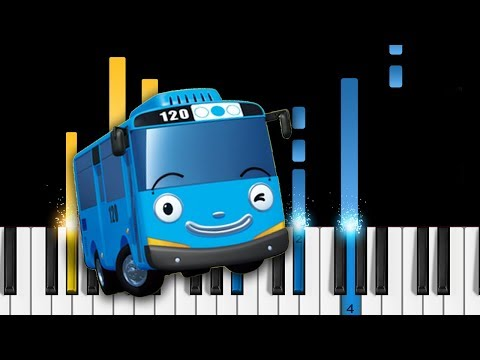 Tayo The Little Bus - Opening Theme Song - Piano Tutorial / Piano Cover
