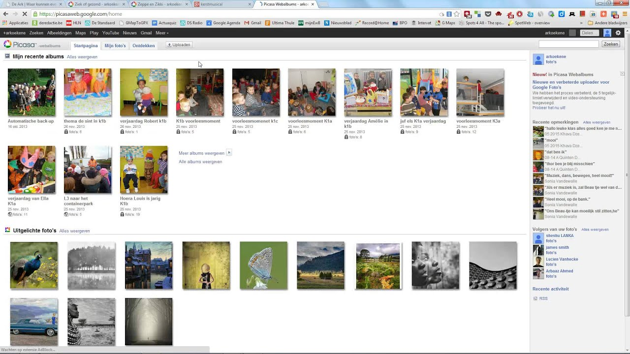 Picasa photos vs google