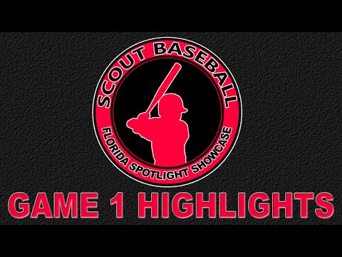 Scout Baseball - National Showcase Game 1 - 12/28/2015