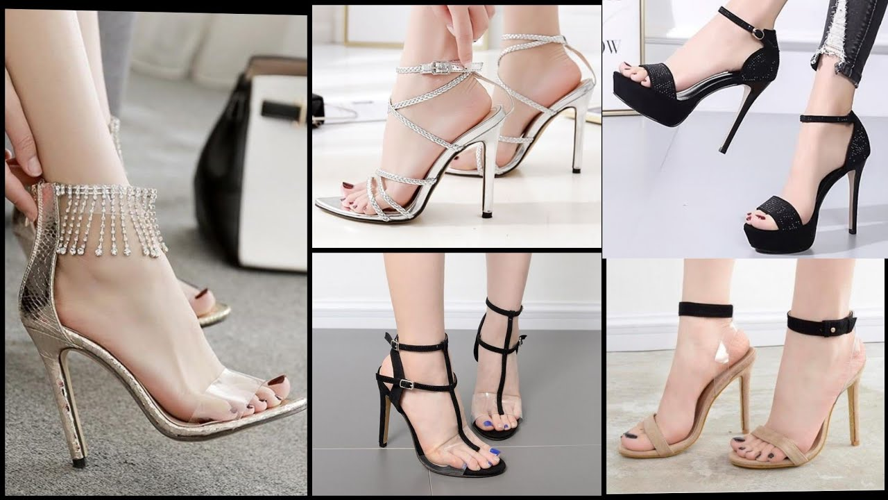 Top Class 72 Ankle Strap Open Toe Chunky high Heels Sandals Collection 2020