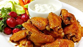 Chicken Wings Recipe | Hot Wings Sauce Recipe | Blue Cheese Dip Recipe | Hot and Tangy Wings Recipe