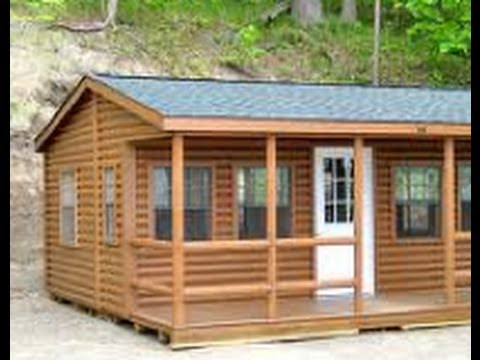 pre built hunting cabins add space to your home youtube. Black Bedroom Furniture Sets. Home Design Ideas