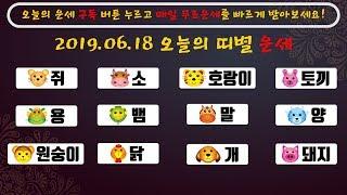 2019년 6월 18일 띠별 운세 오늘의 운세  쥐띠, 소띠, 호랑이띠, 토끼띠, 용띠, 뱀띠, 말띠, 양띠…