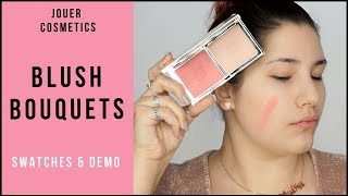 JOUER COSMETICS BLUSH BOUQUETS SWATCH & DEMO | MAKEUPBYMISSKRIS