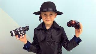 СпецАгент Даник и шпионские игрушки для детей - НОЧНОЙ БИНОКЛЬ и ручка с невидимыми чернилами