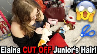 Elaina CUT OFF Junior's Hair! *BTS*