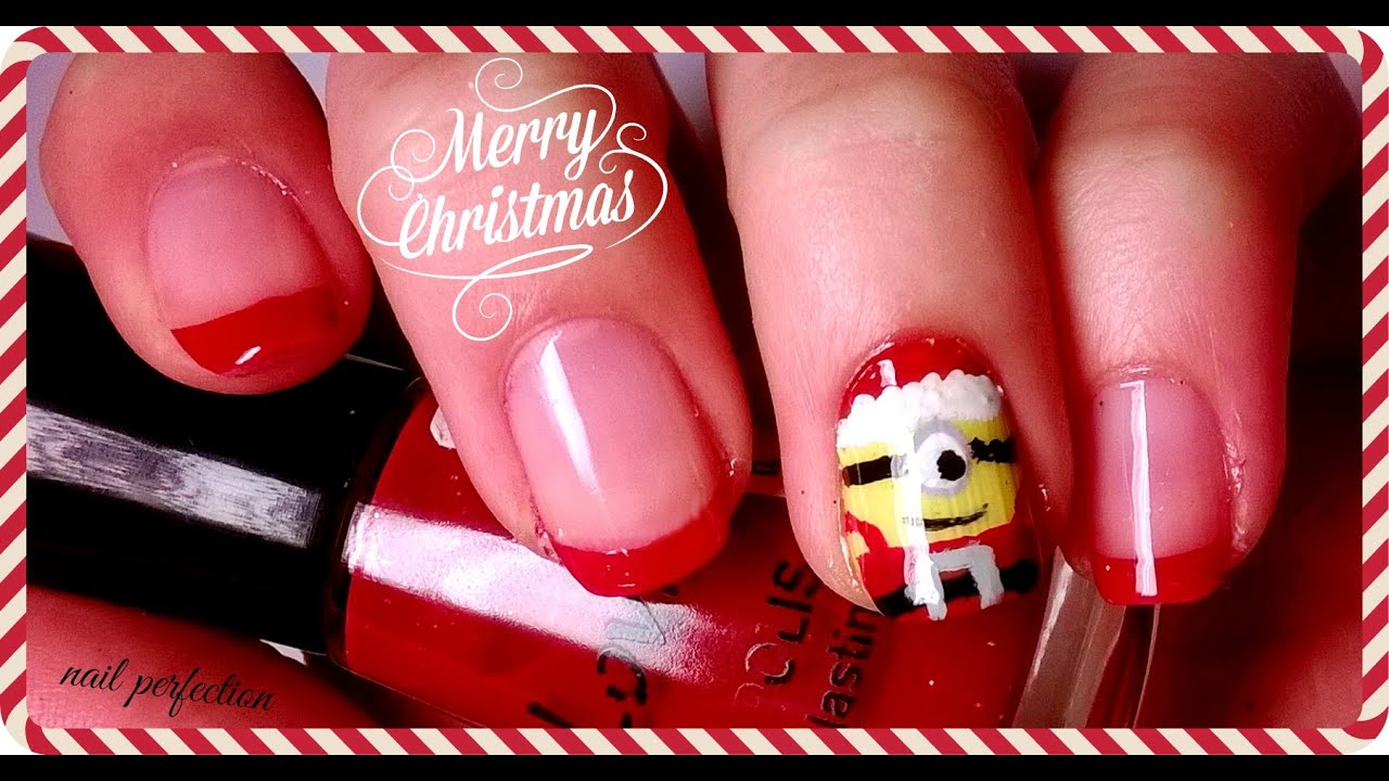Santa Minion Nail Art | Nail Perfection - YouTube