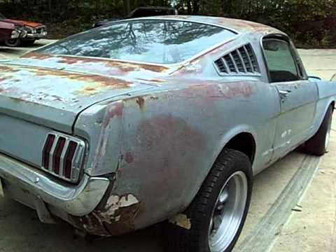 65 Mustang Fast Back Orig V8stick Shift Car Barn Find