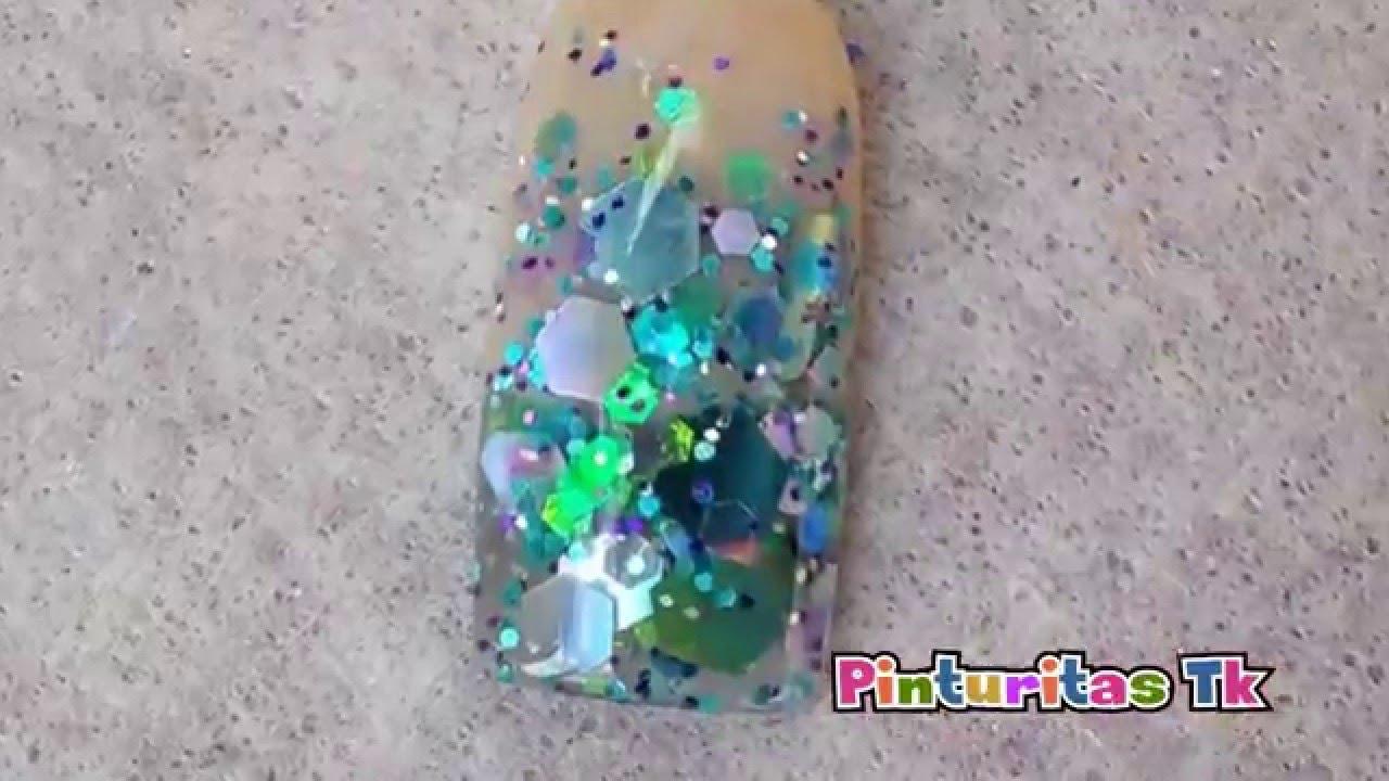 Mezclas para uñas Sirena - YouTube