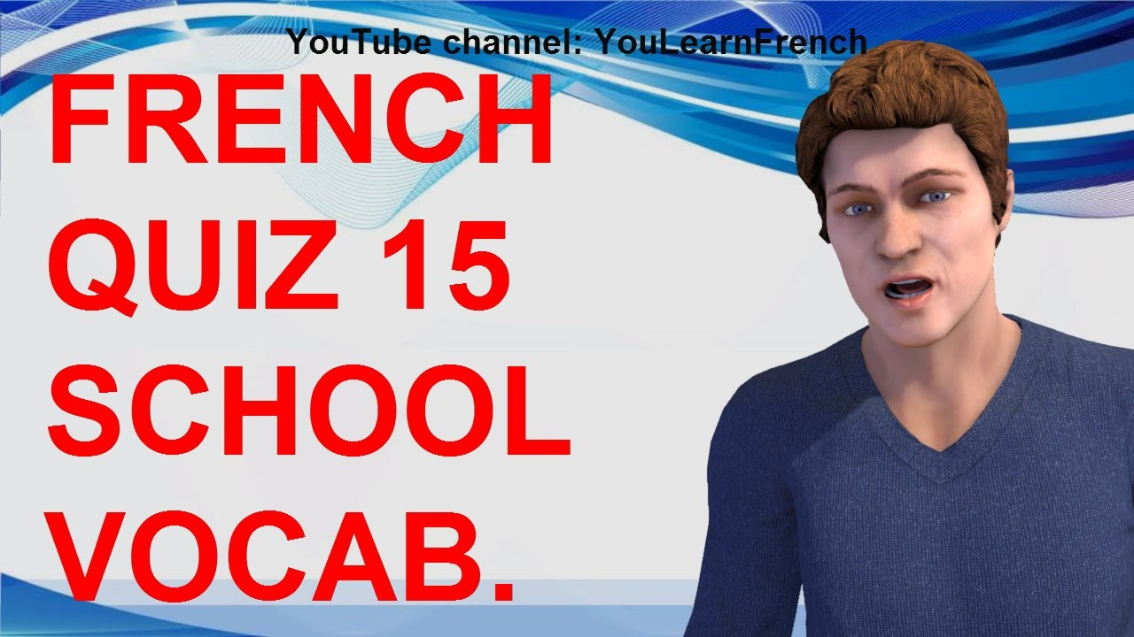 hight resolution of FRENCH QUIZ 15 - TEST French SCHOOL supplies vocabulary Office stationery  Fournitures scolaires - YouTube