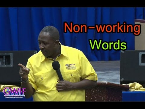 Nonworking Words   Apostle Andrew Scott