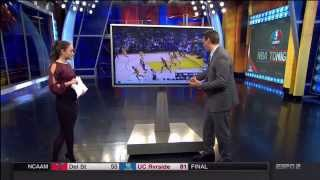 Sage Steele Ass. Cassidy Hubbarth in Stockings. (ESPN)