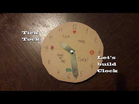 How to make paper Clock and learn to tell the Time