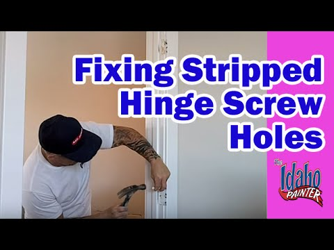 How To Repair Stripped Door Hinge Holes Fix stripped wood screw holes  YouTube