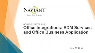 OnBase Integrations - EDM Services and Office Business Application