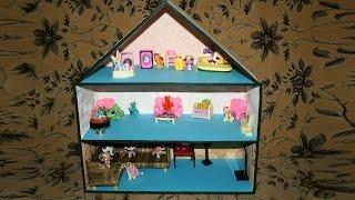 Как сделать домик для Лпс.Май Литл Пони. How to Make a Dollhouse(Сегодня мы сделаем домик для Лпс.Май Литл Пони.Нам потребуется:Картон,клей,обои,цветная бумага. Теперь у..., 2014-10-02T13:57:54.000Z)