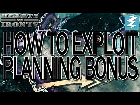 Planning Bonus Tutorial + Bonus Exploit Hearts of Iron IV