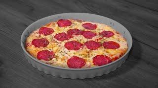 Пицца на кефирном тесте. Попробуйте такой вариант