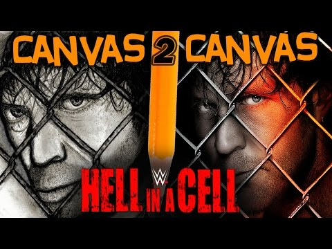 From the WWE Canvas to the Art Canvas - Official Hell in a Cell Poster - Canvas 2 Canvas