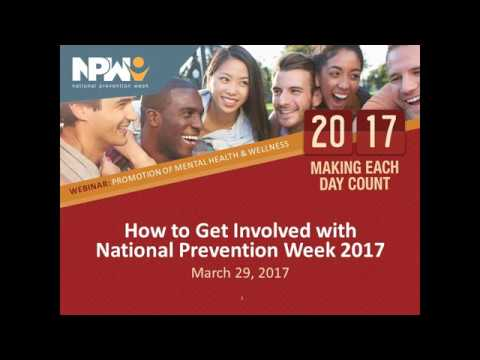 How to Get Involved with National Prevention Week 2017
