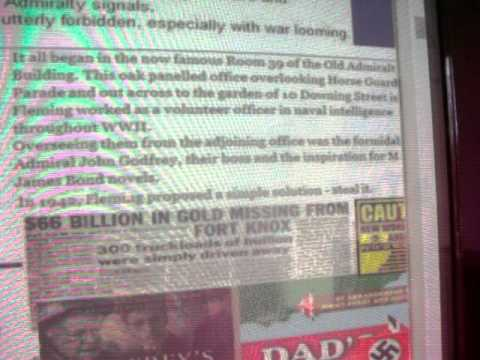 BBC MI6 special ops WW2 Maschwiz Marvel Comics SOE Hollywood & Fort Knox Goldfinger Dr Findlay CASE
