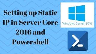 Setting Static IP in Windows S…