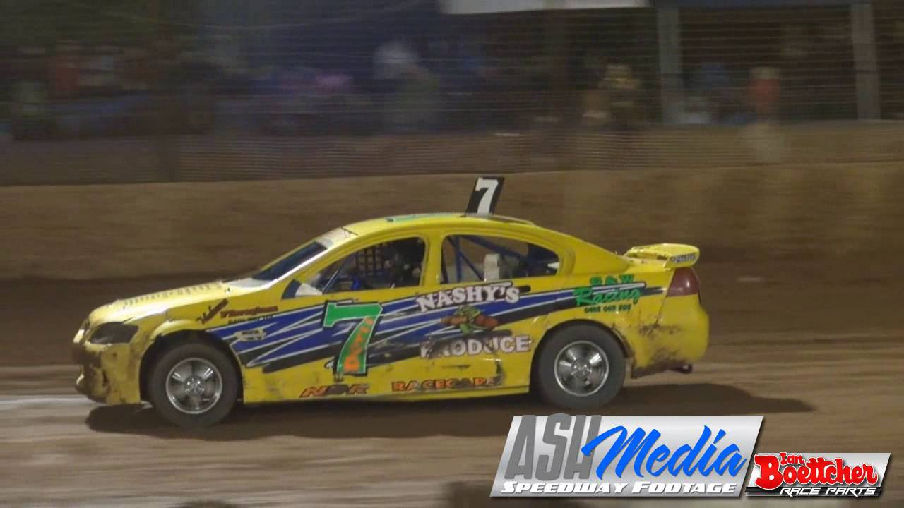 Modified Sedans Todd Doyle And Aidan Raymont Crash Carina