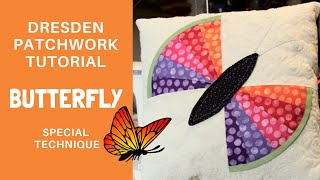 Dresden Butter Fly Patchwork Tutorial from Csoki-Folt patchwork templates