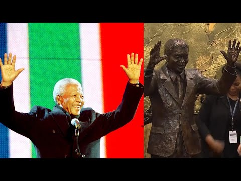 Nelson Mandela Gets Statue at United Nations to Mark His 100th Birthday