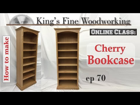 70 - How To Build A 6 Ft. Standard Cherry Bookcase 4K