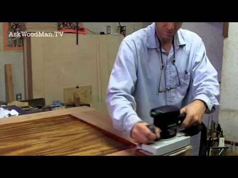 24 How To Sand Across Joints Sanding Basics Solid Wood Door Series Video 12