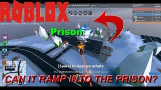 Can A Volt Tron Bike Ramp Into The Prison? | Roblox Jailbreak | Mythbusting (kind of)