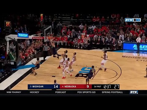 Duncan Robinson's Transition Score vs. Nebraska