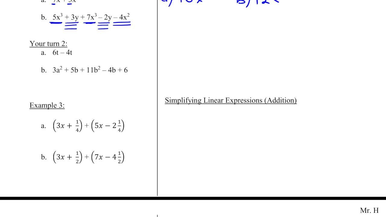 Worksheet Simplify Algebraic Expressions Drfanendo Worksheets For