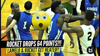 LaMelo Ball & Spire ANOTHER FIGHT?! Rocket Watts 64 POINTS! Sends Message To McDs All American!!