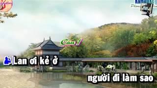 Tân cổ Lan Điệp (New) Karaoke Song Ca (Thiếu giọng nữ)