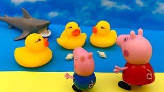 Świnka Peppa i Kaczuszki ☺ Uwaga REKIN atakuje ☺ Bajka dla dzieci PO POSLKU