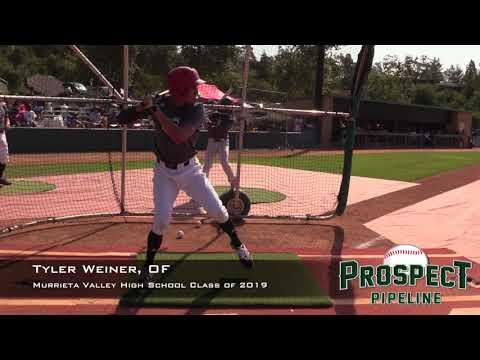 Tyler Weiner Prospect Video, OF, Murrieta Valley High School Class of 2019